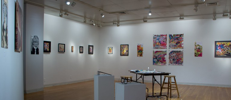 Gallery Installation view #6: looking SE, multiple works