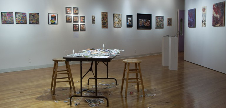 Gallery Installation view #8: looking NW, multiple works