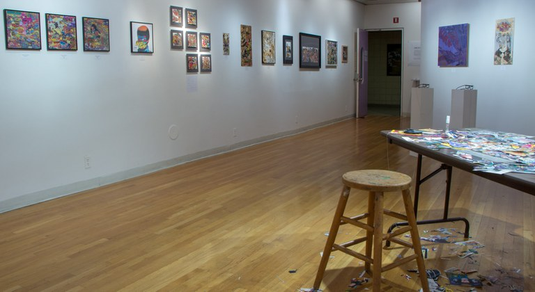 Gallery Installation view #9: looking NW, multiple works