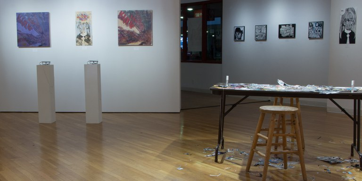 Gallery Installation view #10: looking NE, multiple works
