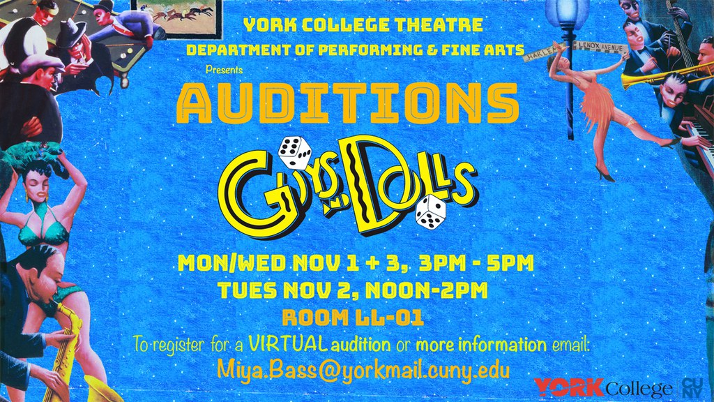 Auditions for Fall 2019 York College Theatre Productions