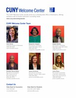 CUNY Welcome Center Team