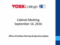 Facilities Cabinet Meeting