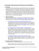 CUNY Export Control Guidance: International Travel Briefing