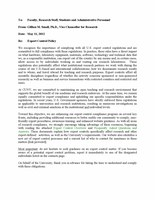 CUNY Export Control Guideline Policy Statement