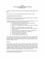Resource Committee Minutes February 22 2016