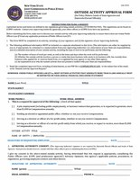 JCOPE Outside Activity Report Form