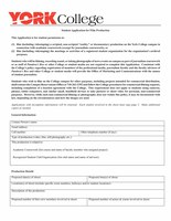 Student Application for Film Production - Form