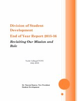 Division of Student Development End of Year Report 2015-16