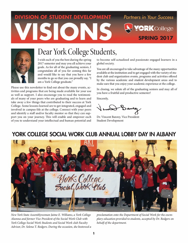 Spring 2017 Student Development Newsletter