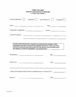 Request for Advance of Expenses